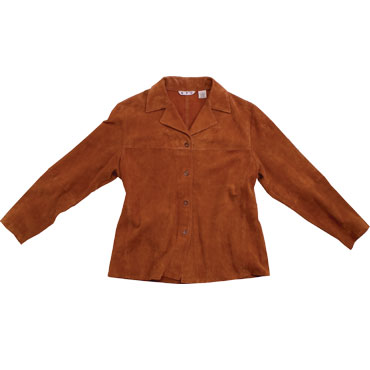 Womens Italian Goat Suede Leather Jacket